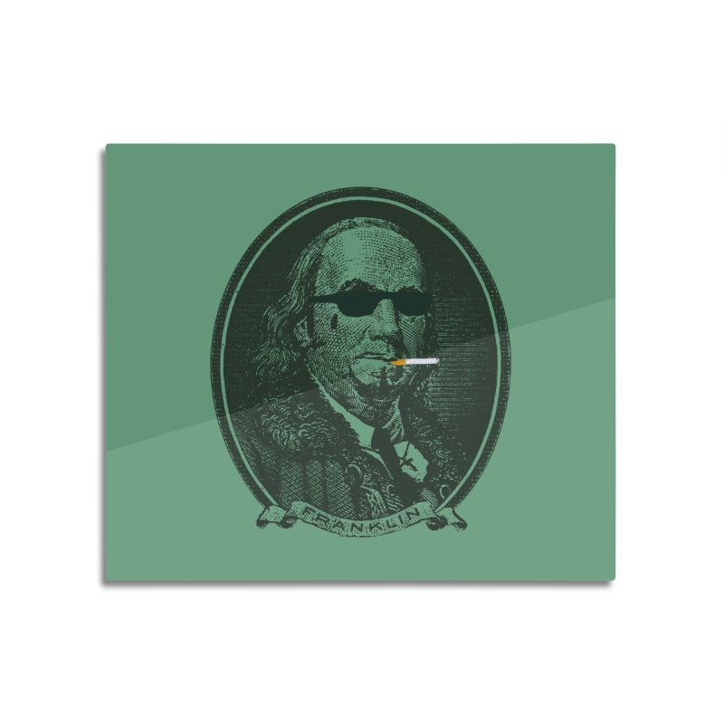 All About Da Benjamins Home Mounted Aluminum Print by Thomas Orrow