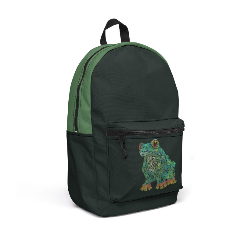Amazon Tree Frog Accessories Backpack Bag by Thomas Orrow