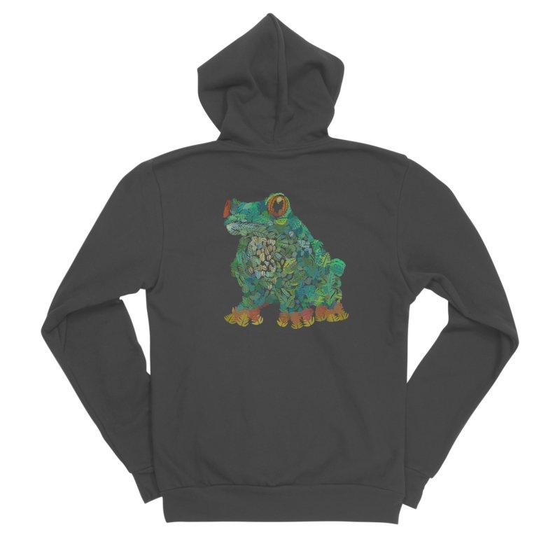 Amazon Tree Frog Women's Sponge Fleece Zip-Up Hoody by Thomas Orrow