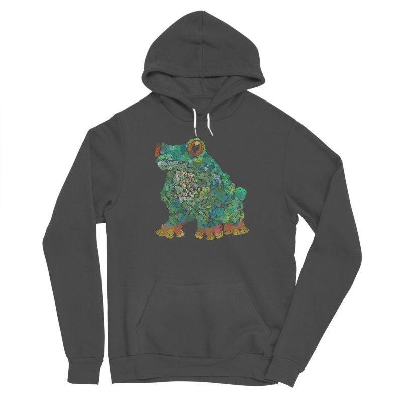 Amazon Tree Frog Men's Sponge Fleece Pullover Hoody by Thomas Orrow
