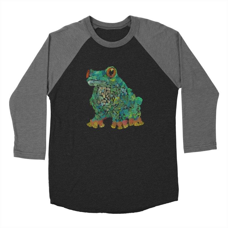 Amazon Tree Frog Men's Baseball Triblend Longsleeve T-Shirt by Thomas Orrow