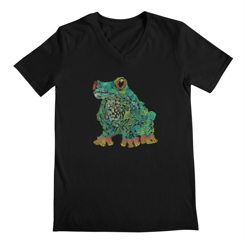 Amazon Tree Frog Men's Regular V-Neck by Thomas Orrow