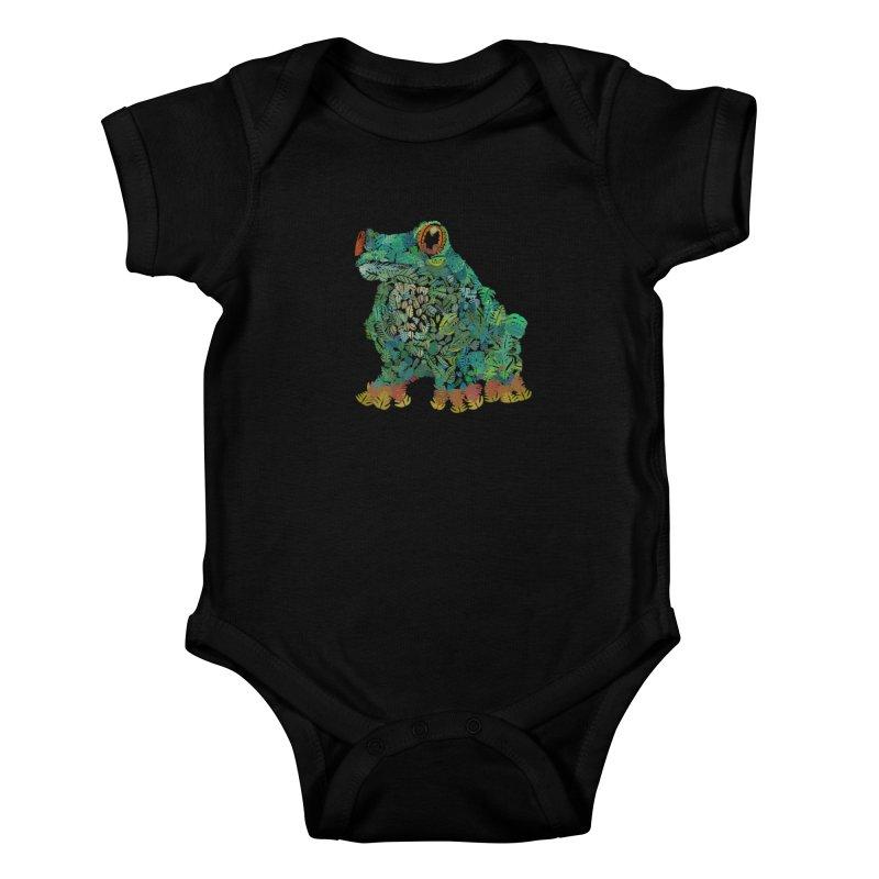 Amazon Tree Frog Kids Baby Bodysuit by Thomas Orrow