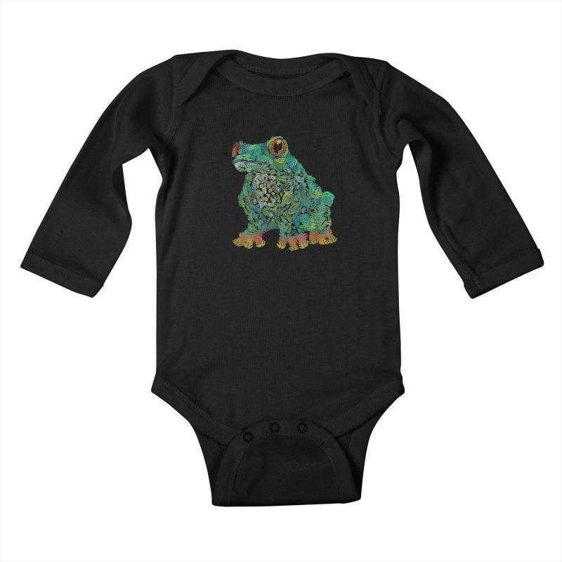 Amazon Tree Frog Kids Baby Longsleeve Bodysuit by Thomas Orrow