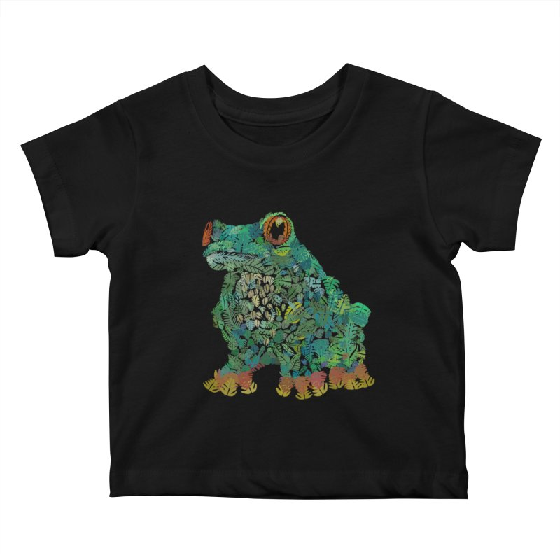 Amazon Tree Frog Kids Baby T-Shirt by Thomas Orrow