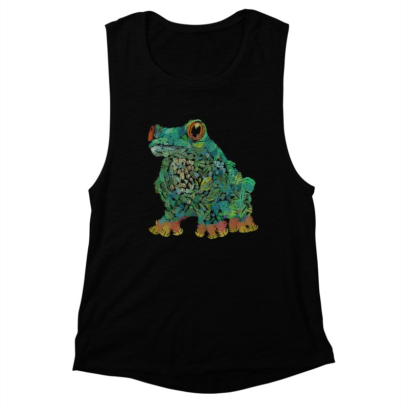Amazon Tree Frog Women's Muscle Tank by Thomas Orrow