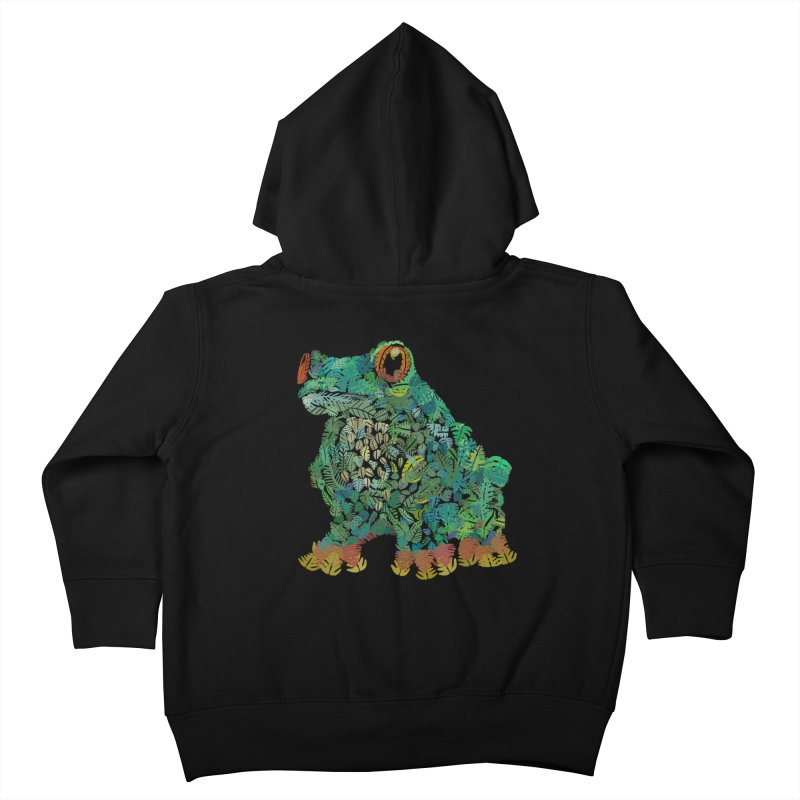 Amazon Tree Frog Kids Toddler Zip-Up Hoody by Thomas Orrow