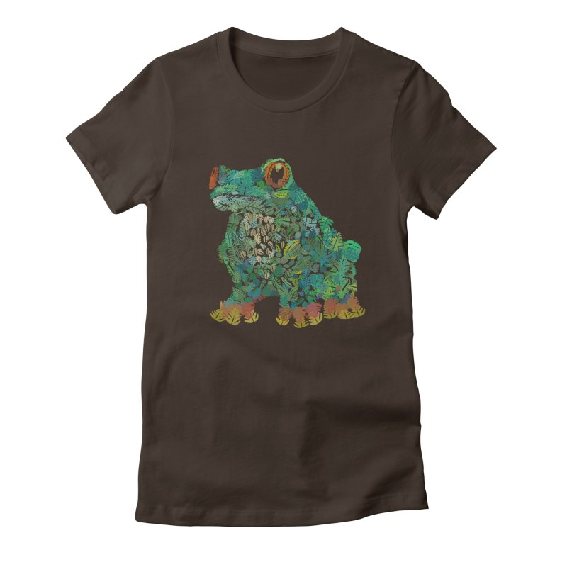 Amazon Tree Frog Women's Fitted T-Shirt by Thomas Orrow