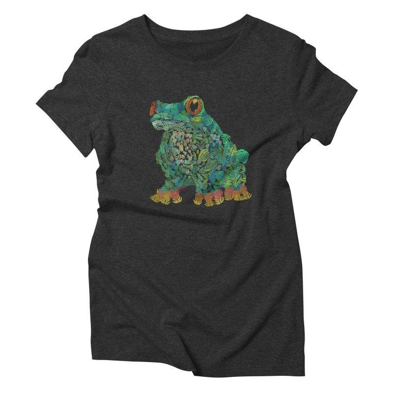 Amazon Tree Frog Women's Triblend T-Shirt by Thomas Orrow