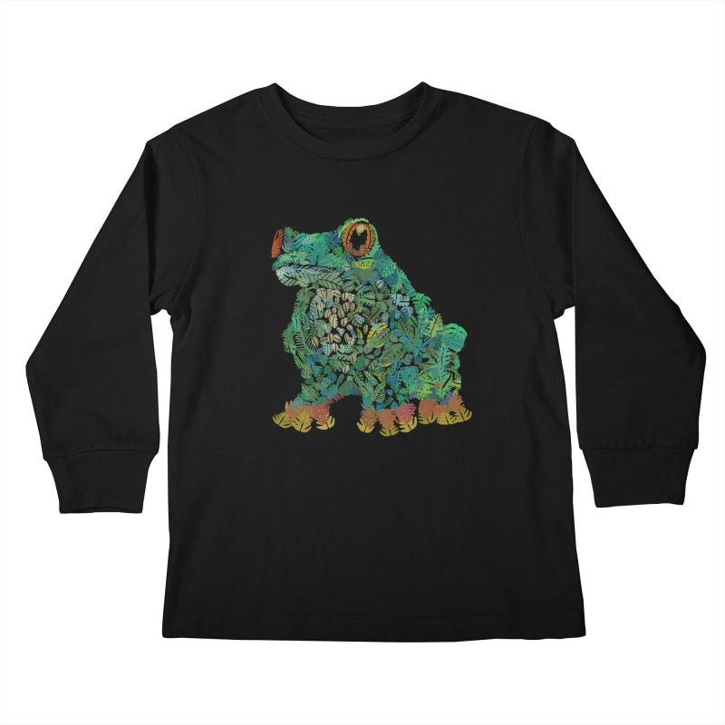 Amazon Tree Frog Kids Longsleeve T-Shirt by Thomas Orrow