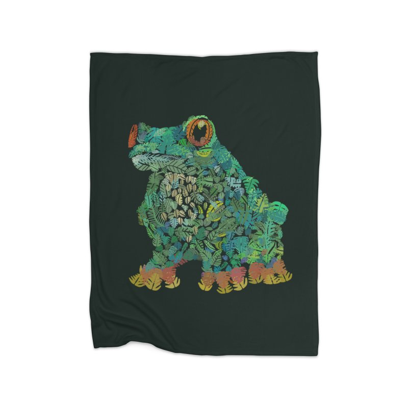 Amazon Tree Frog Home Fleece Blanket Blanket by Thomas Orrow