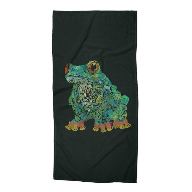 Amazon Tree Frog Accessories Beach Towel by Thomas Orrow
