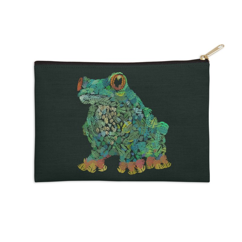 Amazon Tree Frog Accessories Zip Pouch by Thomas Orrow