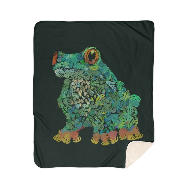 Amazon Tree Frog Home Sherpa Blanket Blanket by Thomas Orrow