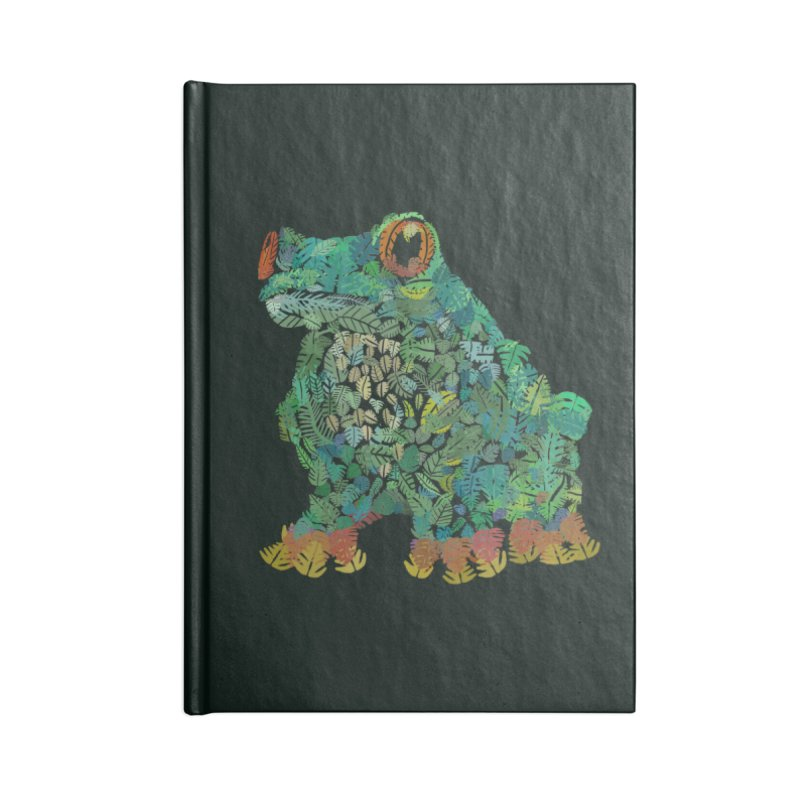 Amazon Tree Frog Accessories Blank Journal Notebook by Thomas Orrow