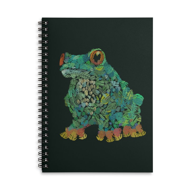 Amazon Tree Frog Accessories Lined Spiral Notebook by Thomas Orrow