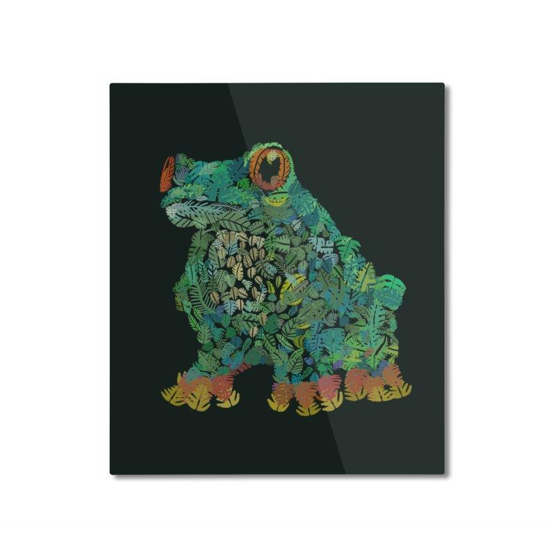 Amazon Tree Frog Home Mounted Aluminum Print by Thomas Orrow