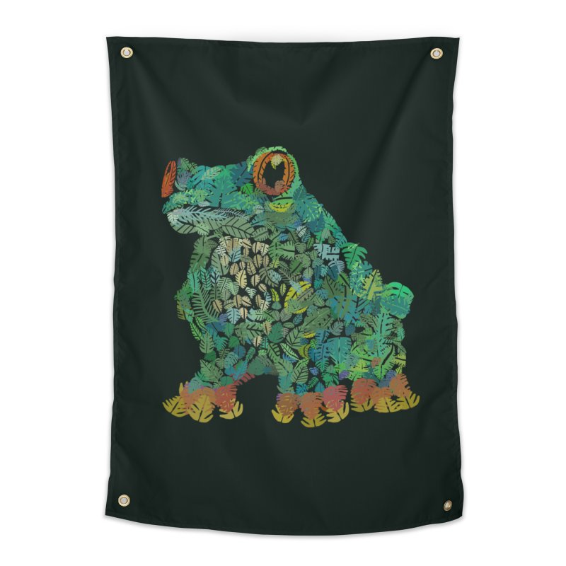 Amazon Tree Frog Home Tapestry by Thomas Orrow