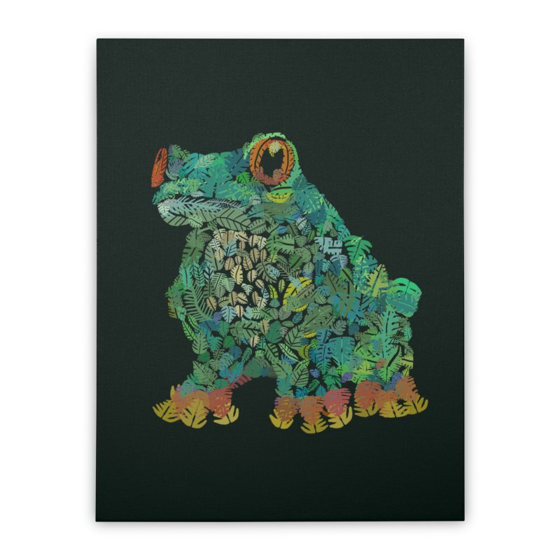 Amazon Tree Frog Home Stretched Canvas by Thomas Orrow