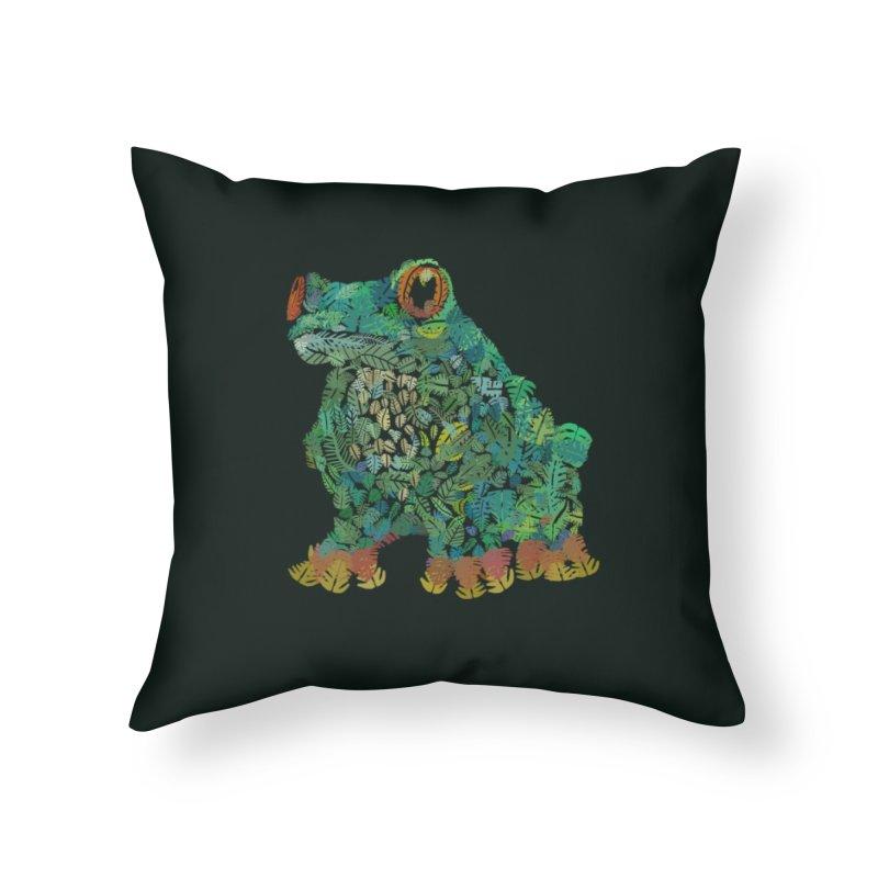Amazon Tree Frog Home Throw Pillow by Thomas Orrow