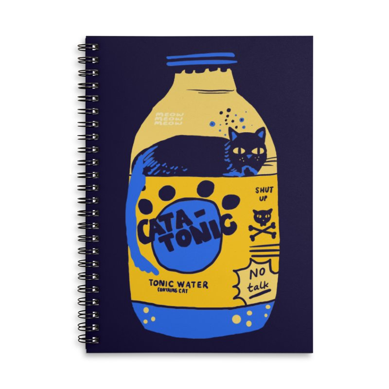 Catatonic Accessories Lined Spiral Notebook by Thomas Orrow