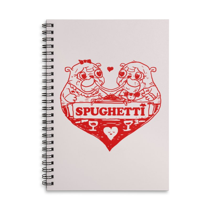 Spughetti Accessories Lined Spiral Notebook by Thomas Orrow