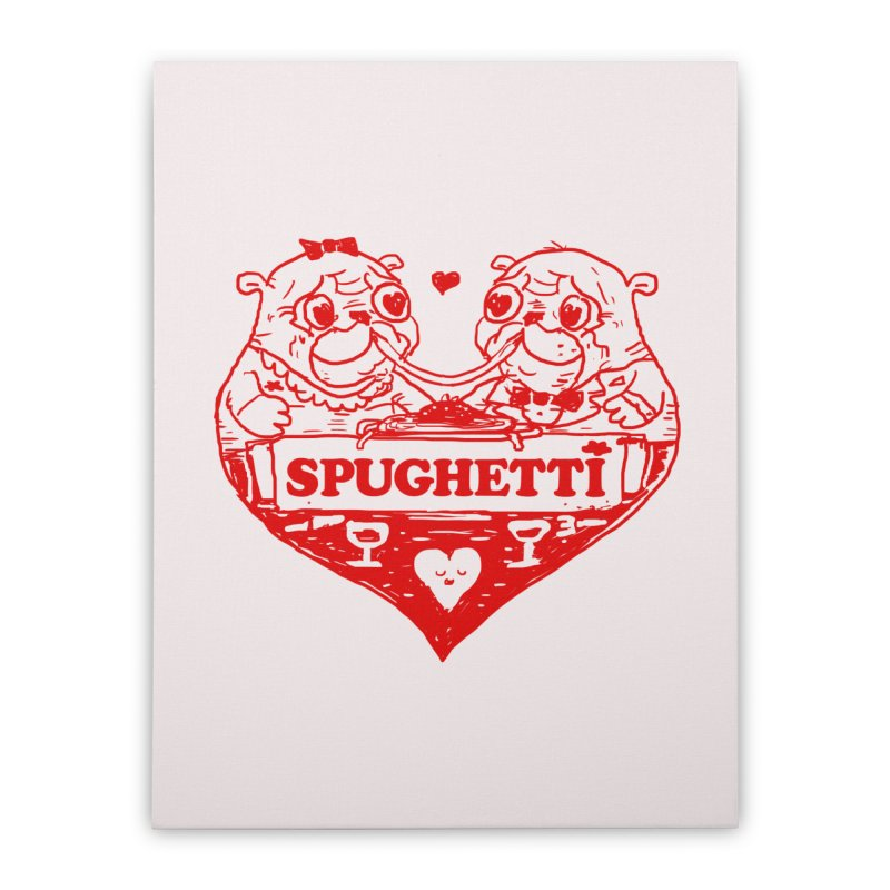 Spughetti Home Stretched Canvas by Thomas Orrow