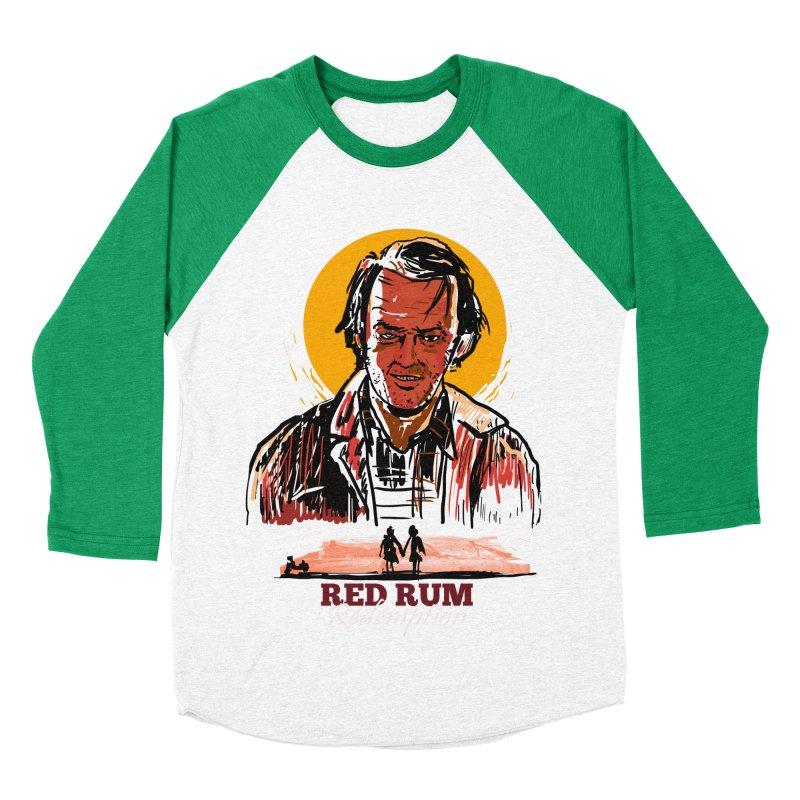 Red Rum Men's Baseball Triblend Longsleeve T-Shirt by Thomas Orrow