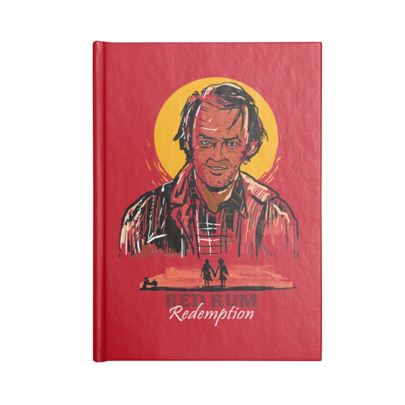 Red Rum Accessories Blank Journal Notebook by Thomas Orrow