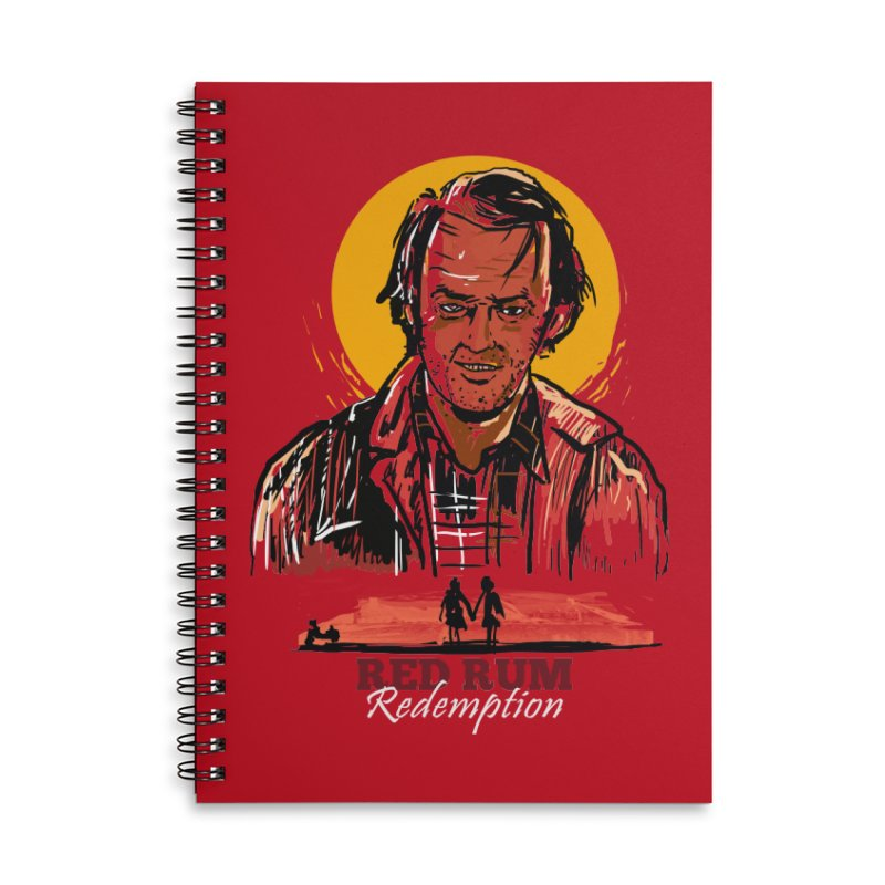 Red Rum Accessories Lined Spiral Notebook by Thomas Orrow
