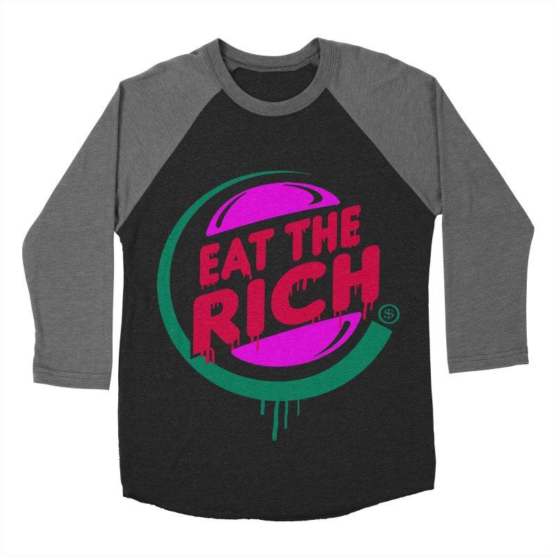 Eat the Rich Men's Baseball Triblend Longsleeve T-Shirt by Thomas Orrow