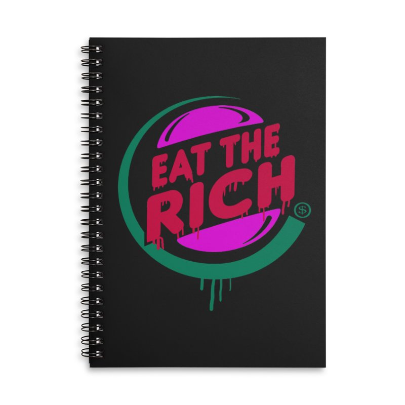 Eat the Rich Accessories Lined Spiral Notebook by Thomas Orrow