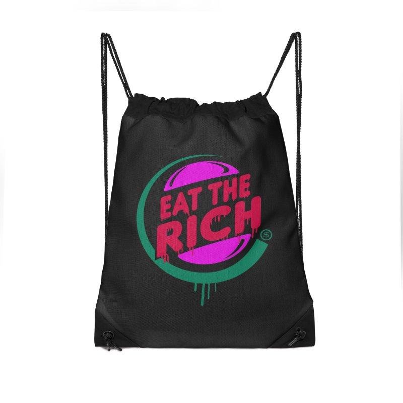Eat the Rich Accessories Drawstring Bag Bag by Thomas Orrow