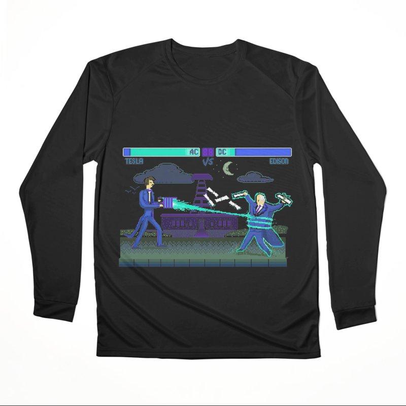 Tesla Vs. Edison Women's Performance Unisex Longsleeve T-Shirt by Thomas Orrow