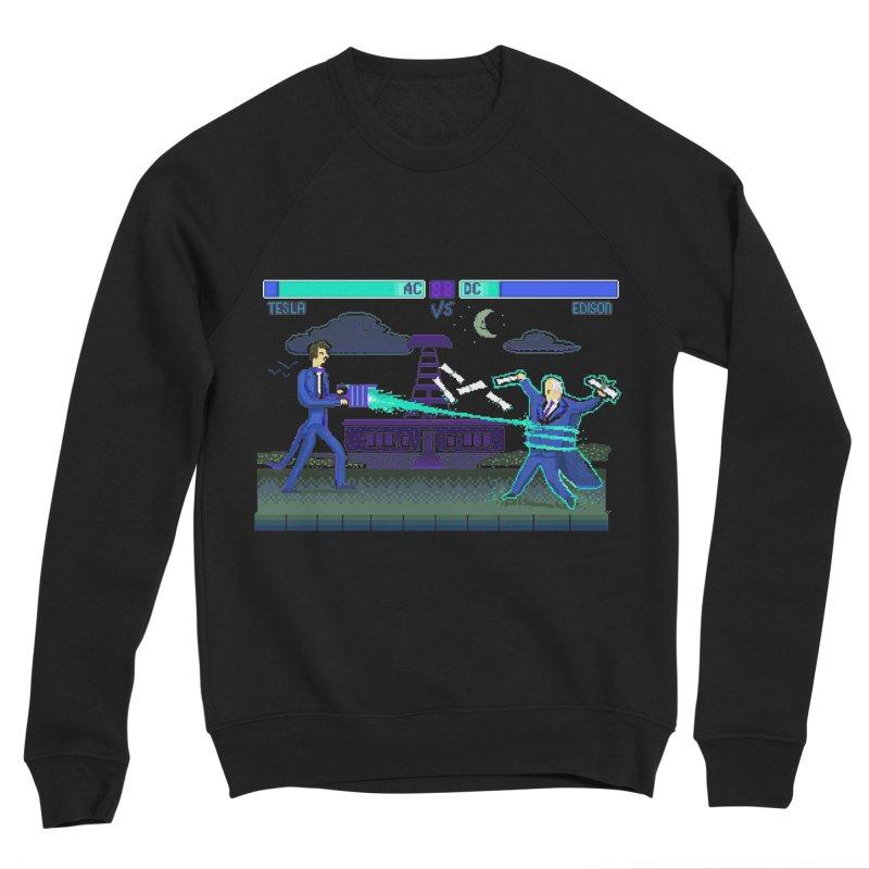 Tesla Vs. Edison Women's Sponge Fleece Sweatshirt by Thomas Orrow