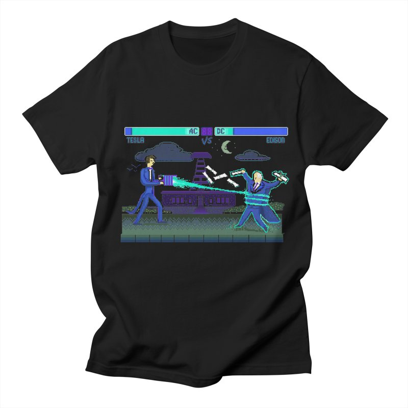 Tesla Vs. Edison Women's Regular Unisex T-Shirt by Thomas Orrow