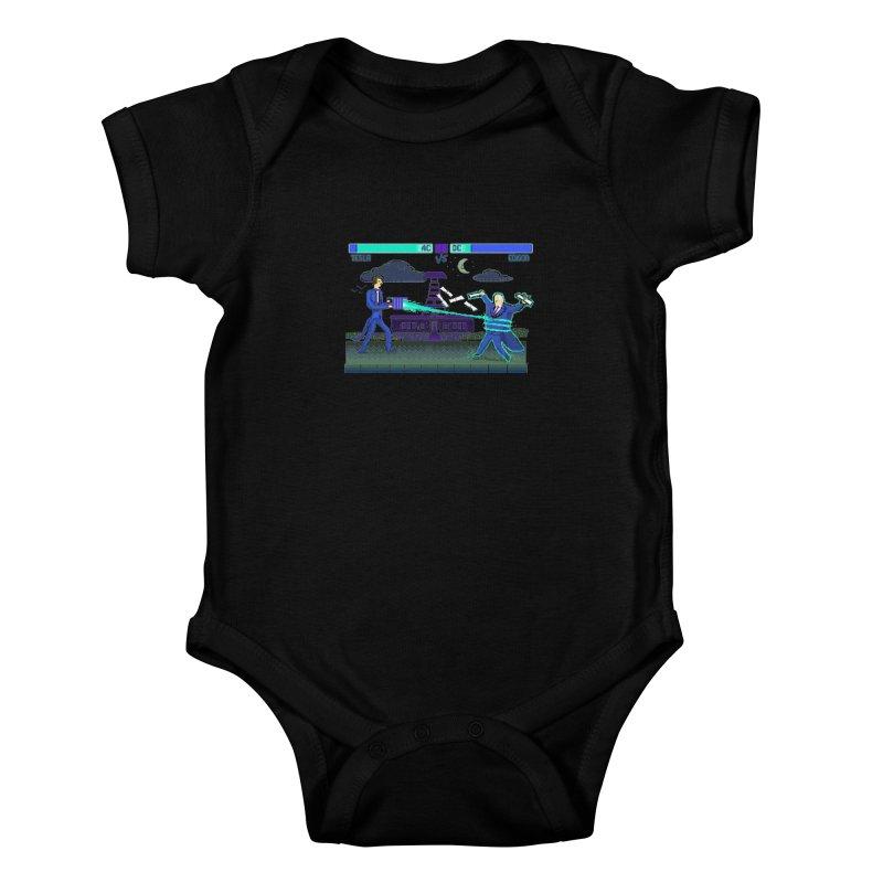Tesla Vs. Edison Kids Baby Bodysuit by Thomas Orrow