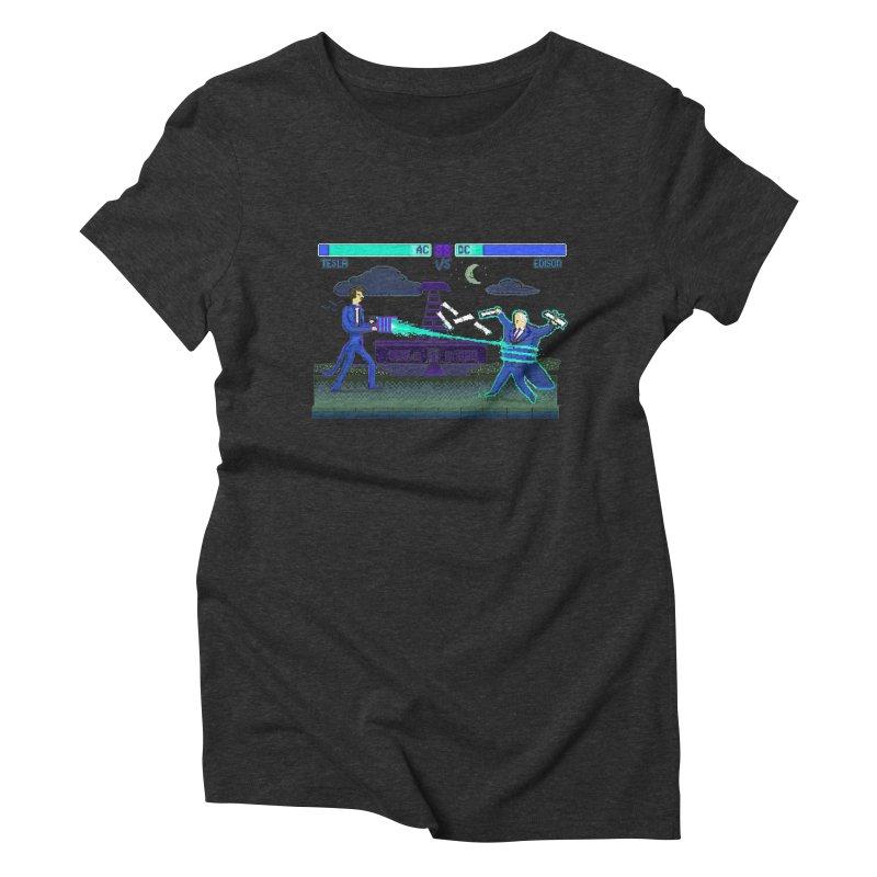 Tesla Vs. Edison Women's Triblend T-Shirt by Thomas Orrow