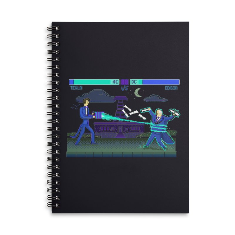 Tesla Vs. Edison Accessories Lined Spiral Notebook by Thomas Orrow