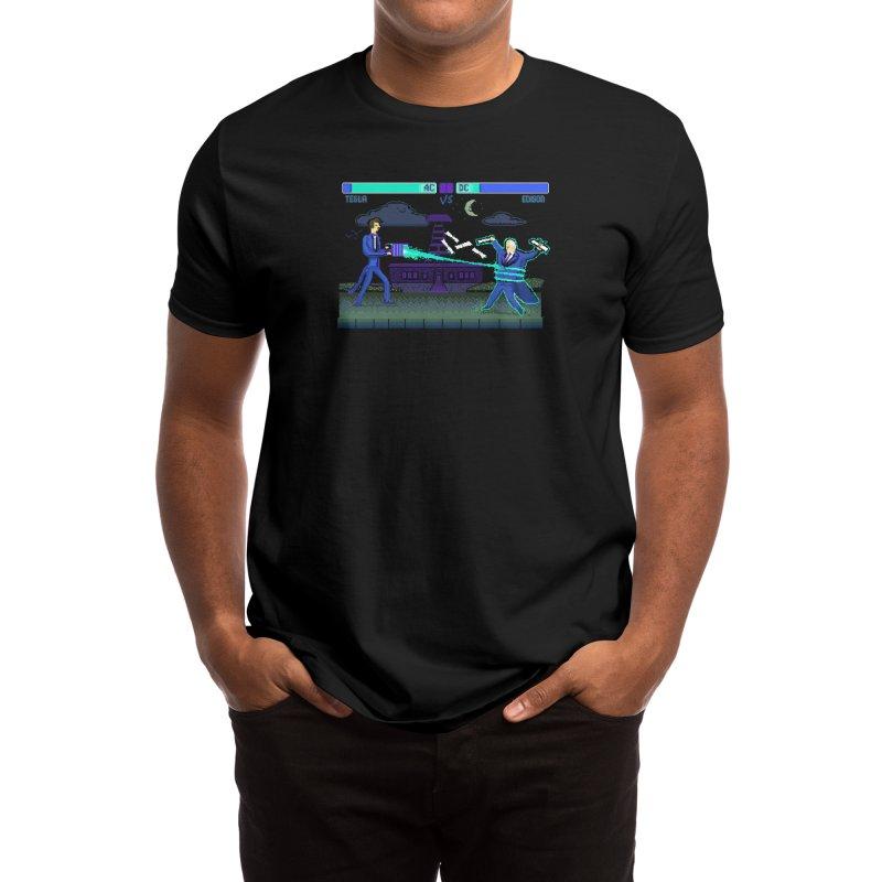 Tesla Vs. Edison Men's T-Shirt by Thomas Orrow