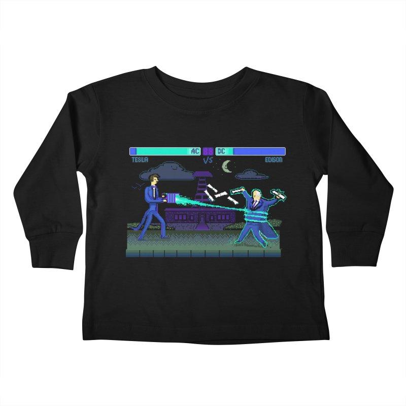 Tesla Vs. Edison Kids Toddler Longsleeve T-Shirt by Thomas Orrow