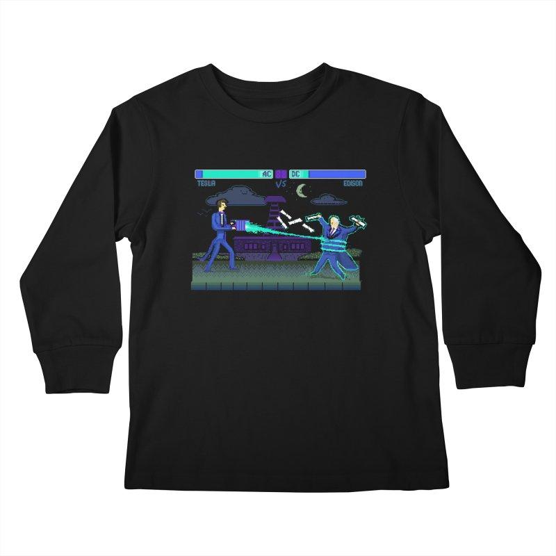 Tesla Vs. Edison Kids Longsleeve T-Shirt by Thomas Orrow