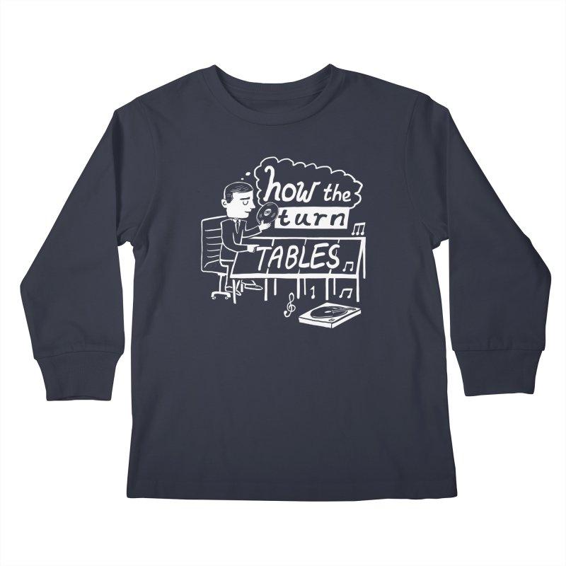 How the turn tables Kids Longsleeve T-Shirt by Thomas Orrow