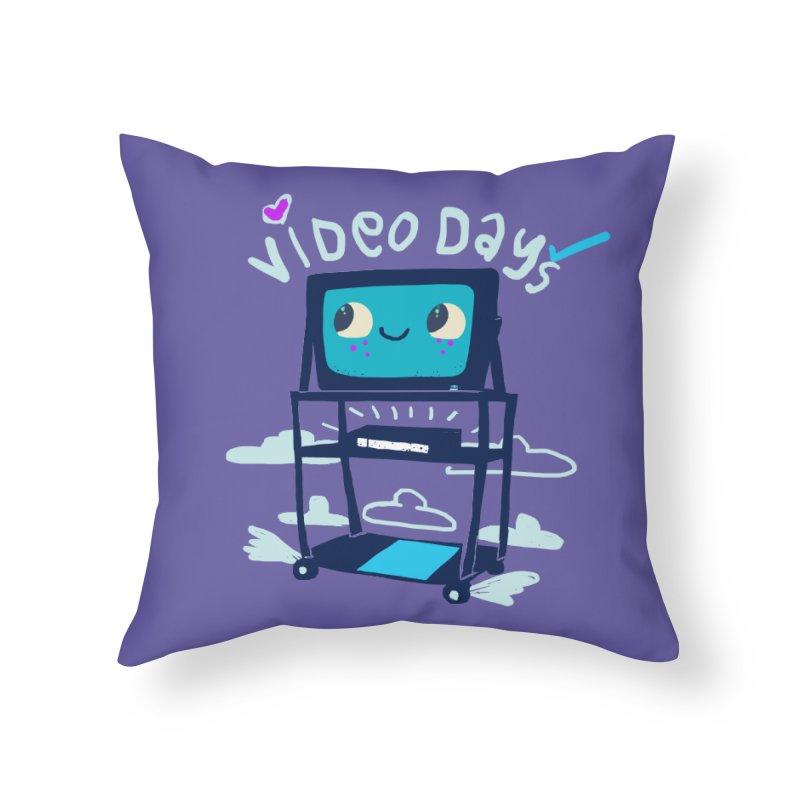 Video Days Home Throw Pillow by Thomas Orrow