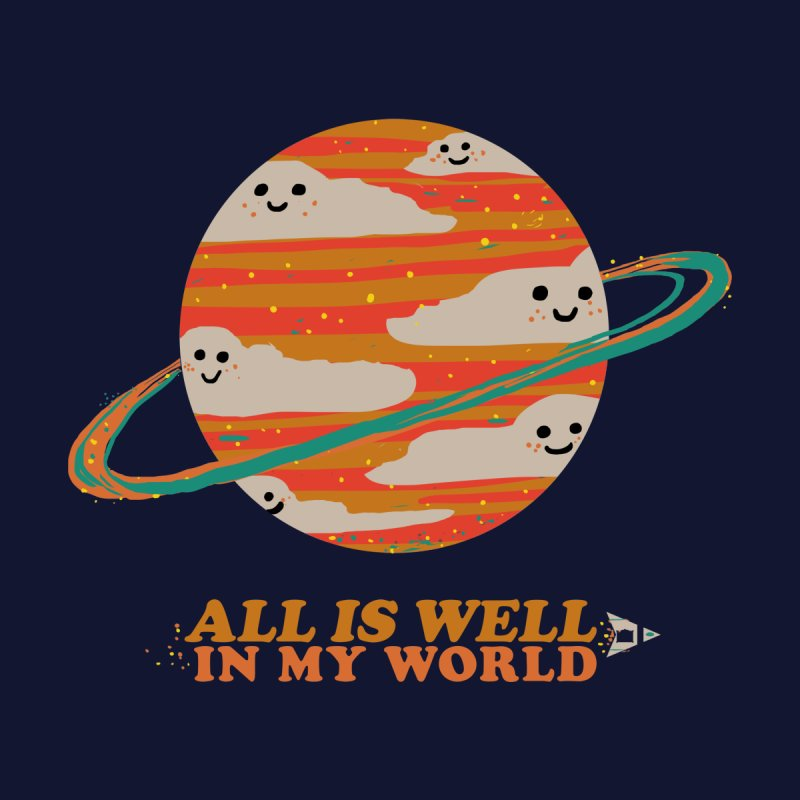 All is Well in My World Women's V-Neck by Thomas Orrow