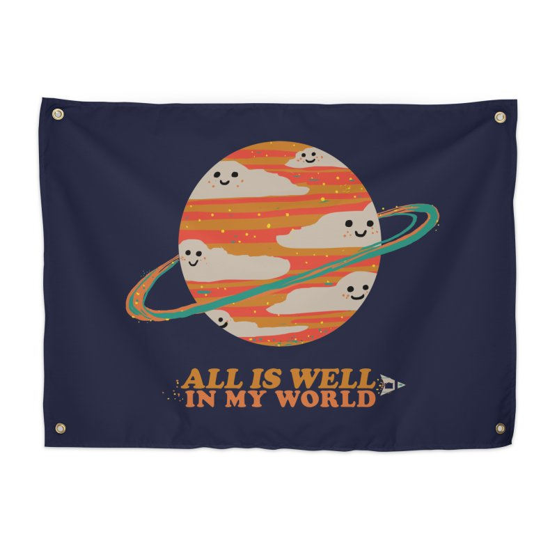 All is Well in My World Home Tapestry by Thomas Orrow