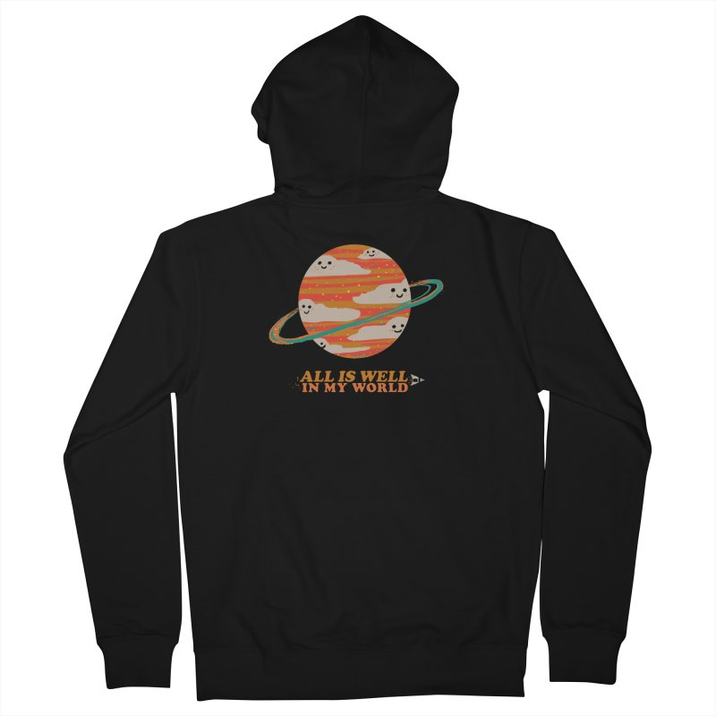 All is Well in My World Men's Zip-Up Hoody by Thomas Orrow