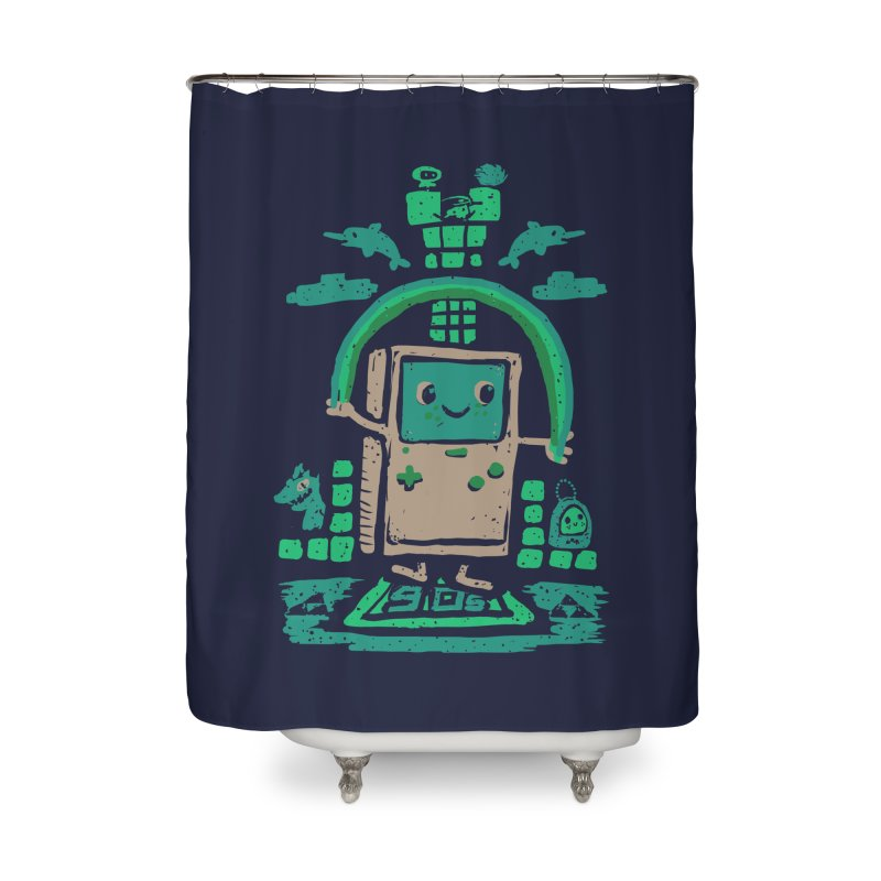 90s Kid Home Shower Curtain by Thomas Orrow