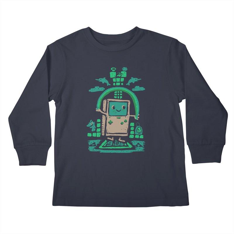 90s Kid Kids Longsleeve T-Shirt by Thomas Orrow