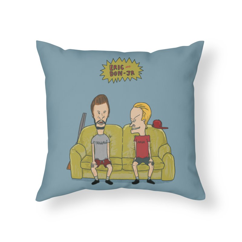 The Butt-Heads Home Throw Pillow by Thomas Orrow